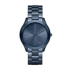 Michael Kors Slim Runway Navy Blue Stainless Steel Analog Quartz Watch MK3419
