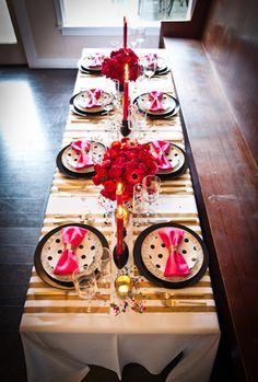 Kate Spade Style Wedding Table Settings