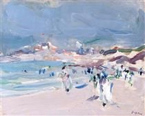 On the Brittany Coast - Samuel Peploe