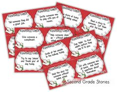 Kindness Elves and Reindeer - Ideas We Love Linky - Second Grade Stories Preschool Christmas, Christmas Activities, Christmas Elf, Christmas Angels, Advent Activities, Christmas Items, Winter Activities, Christmas Traditions, Christmas Crafts