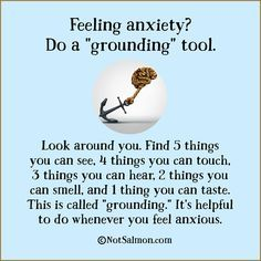 """grounding tool"" for anxiety"