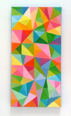 Abstract Painting / Colored Triangles / acrylic por tushtush