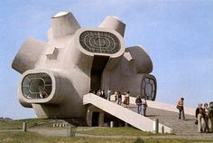 incredible modern monument in the former yugoslavia