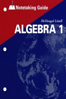 Algebra and trigonometry structure and method book 2 cars mcdougal littell high school math notetaking guide student algebra 1 978 0618410606 fandeluxe Gallery