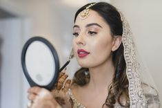 Bride in Gold Wedding Veil and Gold Bridal Jewellery  | By Razia Jukes Photography | Bridal Beauty | Bridal Makeup | Bridal Preparations | Bridal Jewellery | Multicultural Wedding | Fusion Wedding | Bride | Gold Wedding Dress