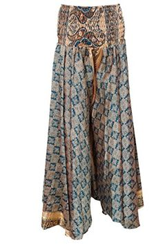 Women's Peasant Maxi Skirt Beige Vintage Silk Sari Long Skirts Mogul Interior http://www.amazon.com/dp/B017IIKETS/ref=cm_sw_r_pi_dp_ce.vwb03GZ092