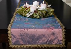 Christmas Holidays, Christmas Tree, Holiday Tables, Table Runners, Pink, Purple, European Countries, Table Decorations, Skirt