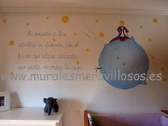 El Principito. Decoración infantil con murales pintados. Toda España. www.muralesmaravillosos.es