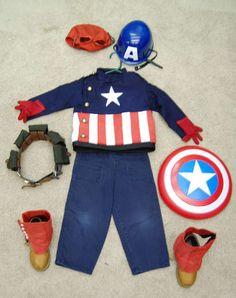 Hand-made Captain America costume