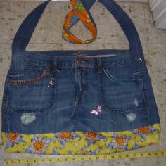 Cate's Closet and Clutter on Facebook #hippie #denim #boho #upcycled #handmade #sunshine #Old Navy #Diva