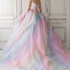 Colorful pastel gown