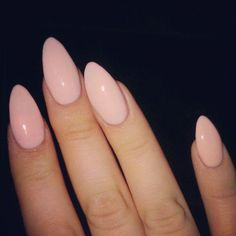 Pink/nude almond nails