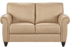 Cindy Crawford Home Lusso Taupe Leather Loveseat. $879.99. 64W x 39D x 38H. Find affordable Leather Loveseats for your home that will complement the rest of your furniture.
