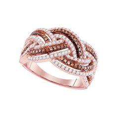 3-4CTW-Diamond FASHION BROWN RING