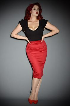 d5636445d The Red Vixen Pencil Skirt has arrived at Deadly is the Female