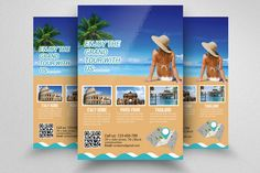 Tour Travel Agency Flyer Template by @Graphicsauthor