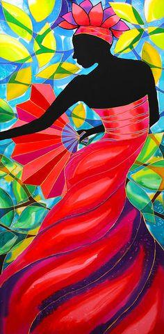Angie's Red Dress In Belize Canvas Print / Canvas Art by Lee Vanderwalker