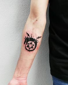 Search inspiration for a Minimal tattoo. Fma Tattoo, Sick Tattoo, Poke Tattoo, Anime Tattoos, Cute Tattoos, Body Art Tattoos, Sleeve Tattoos, Tattoo Finder, Alchemy Tattoo