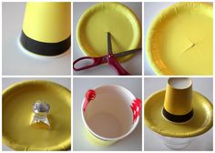 yellow hat with George on top was a cute centerpieces (definitely gonna use this to hold his pic)