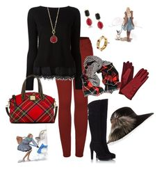 """""""Winterized🌨❄☃"""" by parnett ❤ liked on Polyvore featuring 2LUV, Fratelli Karida, Black, GE, Dooney & Bourke, 1st & Gorgeous by Carolee, 1928, Tiffany & Co. and Inverni"""