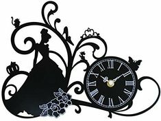Disney Princess Cinderella Silhouette Wall Clock Japan New Disney Castle Silhouette, Cinderella Silhouette, Disney Princess Silhouette, Disney Princess Cinderella, Disney Diy, Disney Crafts, Disney Wall Stickers, Magic Kingdom Castle, Atomic Wall Clock
