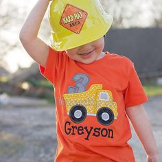 45 Trendy dump truck for sale products Second Birthday Ideas, Third Birthday, 3rd Birthday Parties, Boy Birthday, Birthday Design, Happy Birthday, Construction Birthday Shirt, Construction Birthday Parties, Construction Party