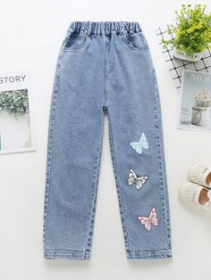 Girls Fashion Clothes, Teen Fashion Outfits, Outfits For Teens, Trendy Fashion, Girl Outfits, Teenager Fashion, Denim Fashion, Korean Casual Outfits, Retro Outfits