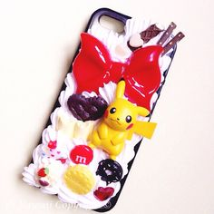 Custom Kawaii Pokemon XY Pikachu, Harimaron, Fennekin and Froakie Decoden Phonecase for Iphone 4/4s 5, Samsung Galaxy S2 S3 S4 Note, HTC