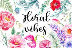 Floral vibes by Eisfrei on @creativemarket