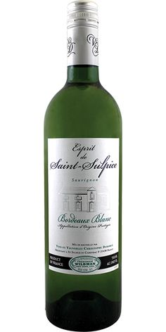 Carefully blended from Sauvignon Blanc (80%) and Sémillon (20%), Esprit de Saint-Sulpice Bordeaux Blanc is dry yet full-flavored, minerally and has a long finish. With an intense aroma and flavor of green grapes, honeysuckle, pineapples and mangos, this delicious dry white is the perfect pair for all salads, cold meats, cheeses and is an excellent apéritif wine. – Winemaker's Notes