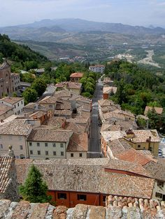 View of San Marino Old Town Italy, Beautiful World, Beautiful Places, Republic Of San Marino, Italy Culture, Rimini Italy, Best Of Italy, Regions Of Italy, Travel Memories