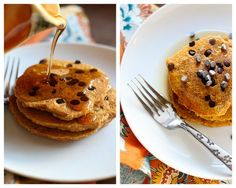 gf Pumpkin Chocolate Chip Pancakes