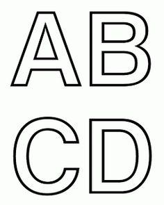 ALFABETOS LINDOS: Moldes de letras do alfabeto pra murais e painéis.