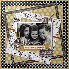 Scrapbook Page 'U 3 Together' by mambi Design Team member Latrice Murphy | me & my BIG ideas