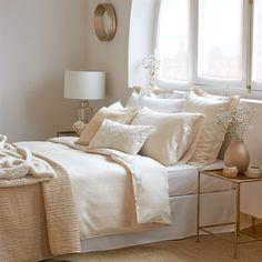 Gestreifte Bettwäsche aus Satin