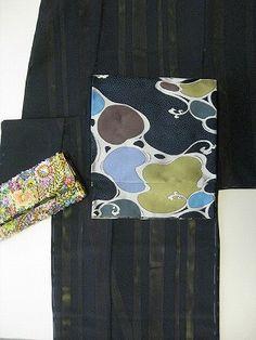幽玄な袋帯 楽 琳派波紋