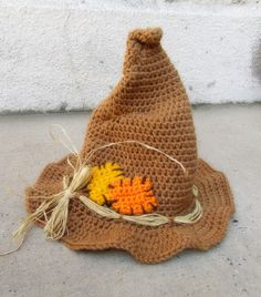 for my nieces Halloween costume.now to find a pattern.maybe Koshler, Nahirniak and Hubbard could help me figure out how to make it :) halloween hats Crochet Adult Hat, Crochet Bebe, Crochet Cross, Crochet Bunny, Cute Crochet, Thanksgiving Crochet, Crochet Winter, Halloween Hats, Halloween Crochet