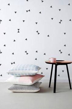 thecatspyjamasclub / triangle wall stickers