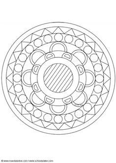 Kleurplaat mandala-1502y