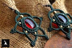 Check out this item in my Etsy shop https://www.etsy.com/listing/243675754/macrame-star-earrings-with-glass