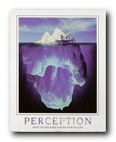 """Your Perception of me is a reflection of you; my reaction to you is an awareness of me"""" It's time to add a new twist to your contemporary living room setting by getting home this wonderful Idea Perception Hidden depths iceberg Motivational wall décor Art Print Poster. This poster captures the image Hidden Depth Iceberg Staying inside is very difficult to prove yourself."""