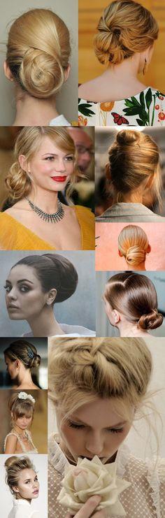 Separamos algumas imagens de coques para inspirar looks delicados e elegantes! Imagens: Reprodução