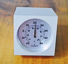 Cube Style Desktop Thermometer, Celsius And Fahrenheit, Thermometer Paperweight, Made in France