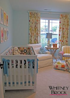 Colorful...when there is so much gray out there for baby rooms.