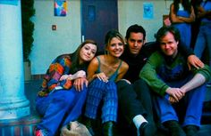 Alyson Hannigan, Sarah Michelle Gellar, Nicholas Brendon and Joss Whedon on the set of Buffy the Vampire Slayer.   Alyson Hannigan, Sarah Michelle Gellar, Nicholas Brendon and Joss Whedon Alyson Hannigan, Sarah Michelle Gellar, Nicholas Brendon and Joss Whedon on the set of Buffy the Vampire...