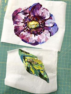 Quilting Tutorials, Quilting Projects, Quilting Designs, Art Quilting, Quilt Art, Quilting Tips, Landscape Art Quilts, Collage Techniques, Sewing Art
