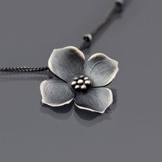 Sterling Silver Dogwood Blossom Necklace by lisahopkins   Lisa Hopkins Design
