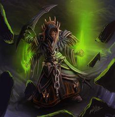 Warlock in deathbringer garb by maxfxgr.deviantart.com on @deviantART
