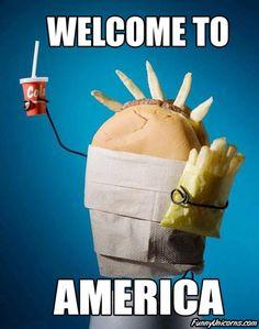 Wellcome to America  Vía: PilloSitio.com #humor #america