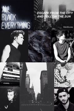 black|one direction
